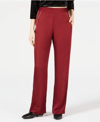 Leyden Piped Wide-Leg Pants