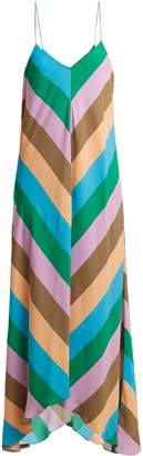 Tibi Julian diagonal-striped crepe slip dress