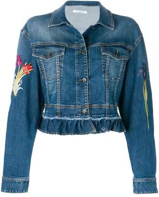 Vivetta floral embroidered denim jacket