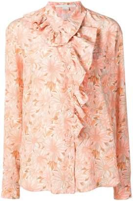 Stella McCartney ruffled floral print shirt