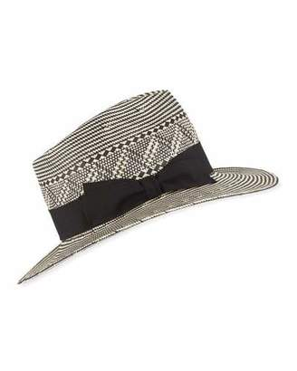 3802f9da5a0ec Frasconi Two-Tone Paper Fedora Hat