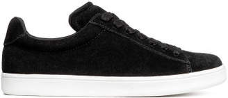 H&M Suede trainers - Black
