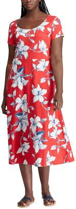 Chaps Plus Size Fit & Flare Midi Dress