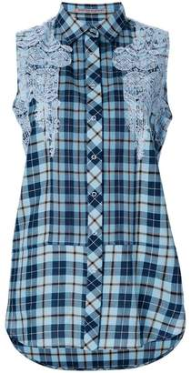Ermanno Scervino checked sleeveless shirt