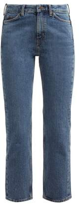 MiH Jeans Daily Crop High Rise Straight Leg Jeans - Womens - Denim
