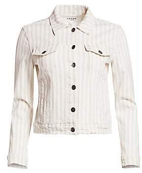 5929d9b19c9 Frame Women s Le Vintage Striped Cropped Jacket