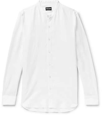 Giorgio Armani Grandad-Collar Linen Shirt