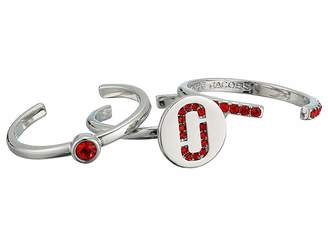 Marc Jacobs Double J Pave Ring Set