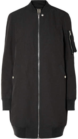 Rick Owens Cotton-blend Bomber Jacket - Black