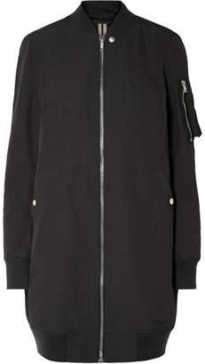 Rick Owens Cotton-blend Bomber Jacket - Black
