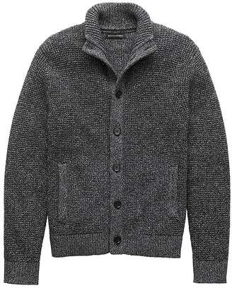 Banana Republic Cotton Mock-Neck Cardigan Sweater