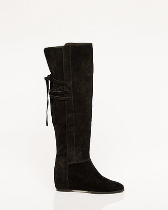 Le Château Suede Concealed Wedge Over-the-Knee Boot