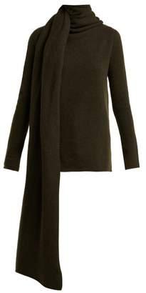 The Row Merriah Cashmere Blend Sweater - Womens - Dark Green