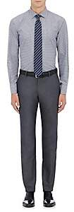 Barneys New York MEN'S CHECKED COTTON DRESS SHIRT-BLUE SIZE 15 L