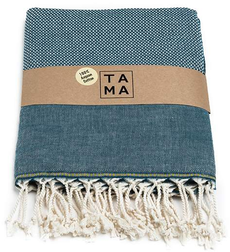 Tama Towels Slate Blue Aegean Cotton Bris Towels