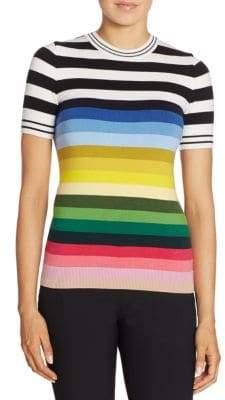 N°21 Rainbow Striped Knit Sweater