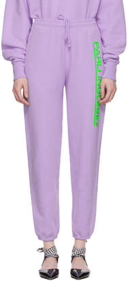 Ashley Williams Purple David Track Pants