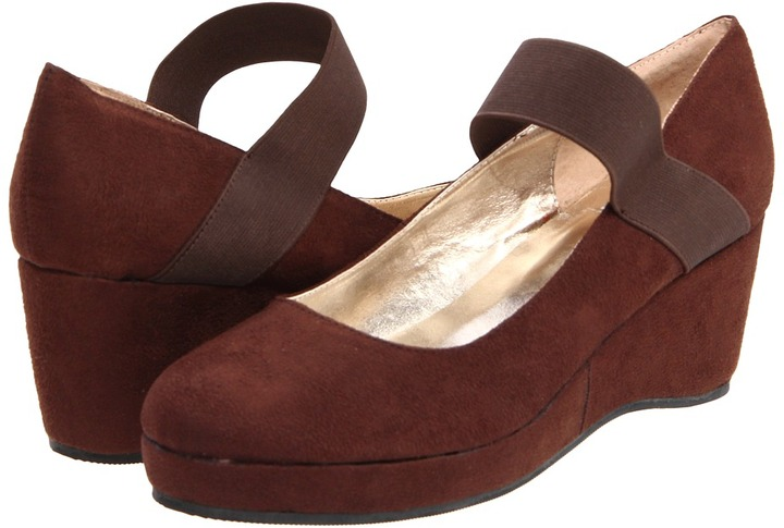 A Line 6/A0659 F12 (Toddler/Youth/Adult) (Dark Brown Suede Fabric) - Footwear