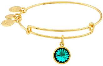 "Alex and Ani Bangle Bar"" May Imitation Birthstone Gold-Tone Expandable Bracelet"