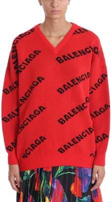 Balenciaga Red Wool Sweater
