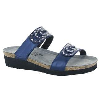 Naot Footwear Women's Naot, Ainsley Slide Sandals BLUE 3.9 M