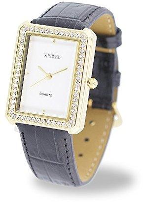 Abiste (アビステ) - [ABISTE]アビステ スクエアフェイスベルト時計/ブラック 9160019G/BK