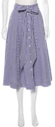 Lisa Marie Fernandez Gingham Midi Skirt