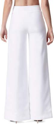 Carbon38 Carbon 38 Lace-Up Wide-Leg Full-Length Pants