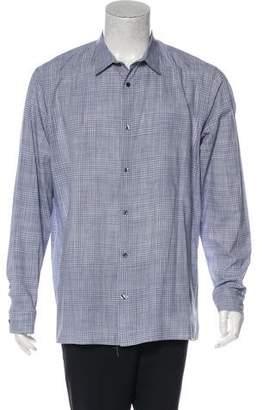 Vince Plaid Button-Up Shirt