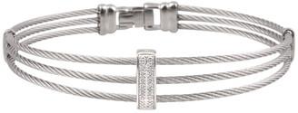 Alor 14K White Gold Diamond Cable Bangle