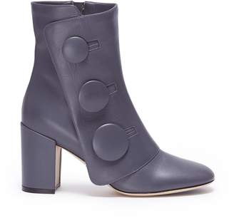 Rodo Mock button flap leather ankle boots