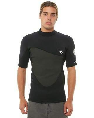 6ef646df6b Rip Curl Surf Men s Omega 1-5Mm Ss Wetsuit Jacket Short Sleeve Neoprene  Black