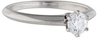 Tiffany & Co. Platinum Diamond Engagement Ring $1,990 thestylecure.com