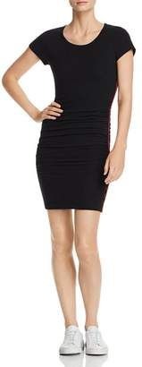 Sundry Piped Ruched Dress