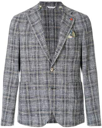 Manuel Ritz checked textured blazer
