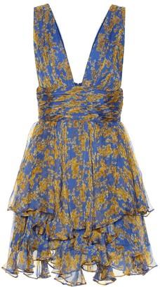 Caroline Constas Paros floral silk-chiffon minidress