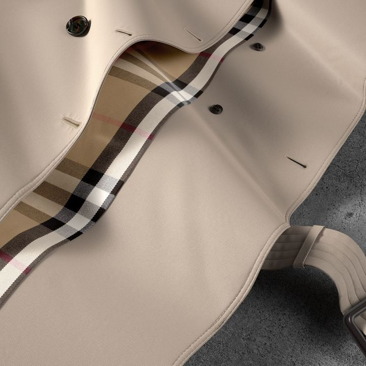 Burberry The Chelsea - Long Heritage Trench Coat , Size: 10, Beige