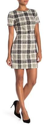 Eliza J Short Sleeve Print Dress