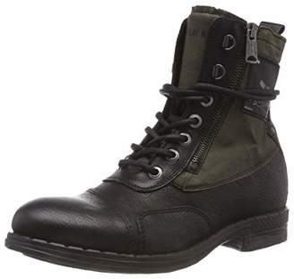 Replay Men's's Wickham Biker Boots Black Army Gr 91