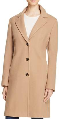 Calvin Klein Single-Breasted Button Front Coat $265 thestylecure.com
