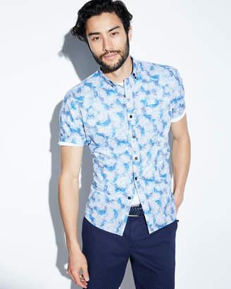 Michael Bastian Ocean Camo Short-Sleeve Sport Shirt
