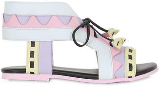 Sophia Webster Geometric Nappa Leather Lace-Up Sandals