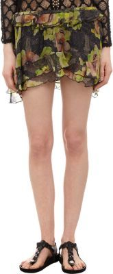 Isabel Marant Floral Chiffon Ruffled Rube Mini Skirt
