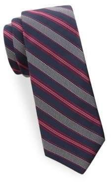 Saks Fifth Avenue Textured Stripe Silk Tie