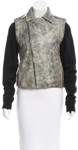 Alexander WangAlexander Wang Distressed Leather Jacket