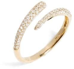 Bony Levy Micro Pave Diamond Openwork Ring