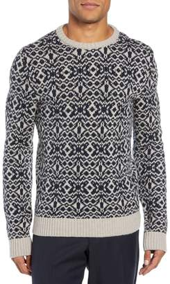 Eidos Patterned Wool Crewneck Sweater