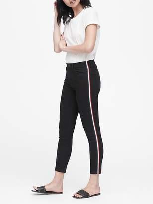 Banana Republic Petite High-Rise Skinny Side-Stripe Cropped Jean