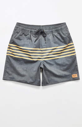 "Brixton Havana Stripe 18"" Swim Trunks"