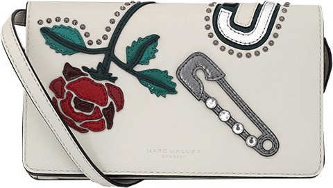 Marc Jacobs MARC JACOBS Leather Strap Wallet